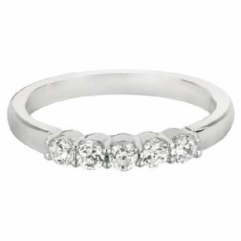 Martin Flyer Our Destiny Our Dreams Five Stone Wedding Band DWBSP1Q-.35-F