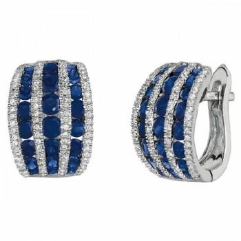 Martin Flyer Precious Trends Colored Gemstone Earring EGS05SRDAQ-F