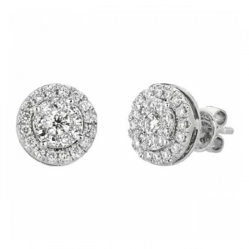 Martin Flyer Wedding Day Jewelry Halo Earring EPS02SPSYQ-D-3.5X2PS