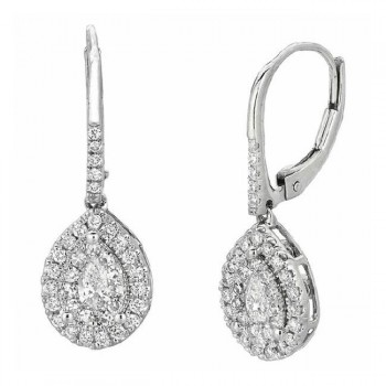 Martin Flyer Wedding Day Jewelry Halo Earring EPS01SECYQ-D-4X2.5EC