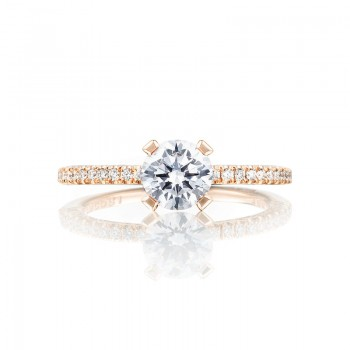 Tacori Pretty in Pink Collection Rose Gold Engagement Ring HT254515RD6PK