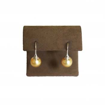 9.5mm Yellow Pearl Earrings