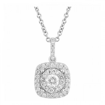 Martin Flyer Wedding Day Jewelry Halo Pendant PPS02SCUQ-D-4.5RD