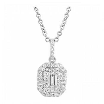 Martin Flyer Wedding Day Jewelry Halo Pendant PPS02SECYQ-D-5.7X3.5EC