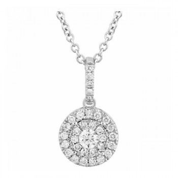 Martin Flyer Wedding Day Jewelry Halo Pendant PPS02XSRDYQ-D-3.0RD
