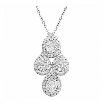 Martin Flyer Wedding Day Jewelry Halo Pendant PPS05SQ-D