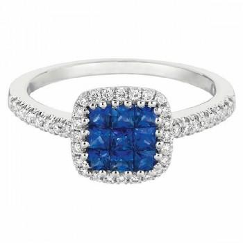 Martin Flyer Precious Trends Colored Gemstone Ring RIS02SAQ-F