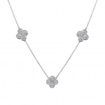 2.16 Carat Diamond Clover Necklace