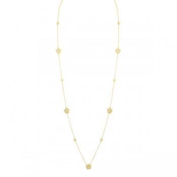 2.95 Carat Flower Diamond Necklace
