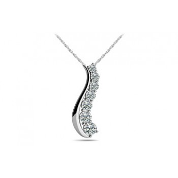 1.0 Carat White Gold Diamond Pendant