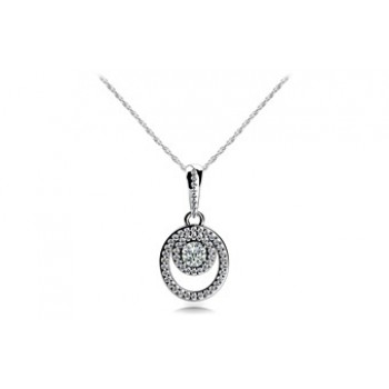 0.93 Carat White Gold Diamond Pendant