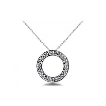 1.04 Carat White Gold Diamond Pendant