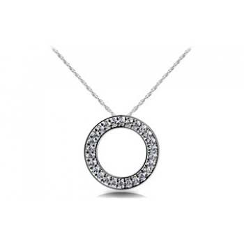 1.12 Carat White Gold Diamond Pendant