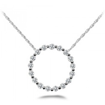 .72 Carat White Gold Diamond Pendant