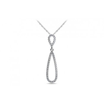 1.02 Carat White Gold Diamond Pendant