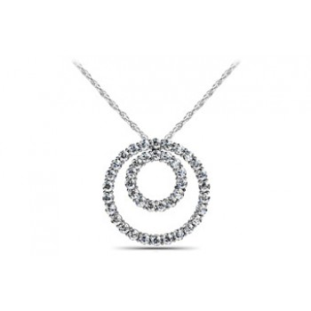 1.06 Carat White Gold Diamond Pendant