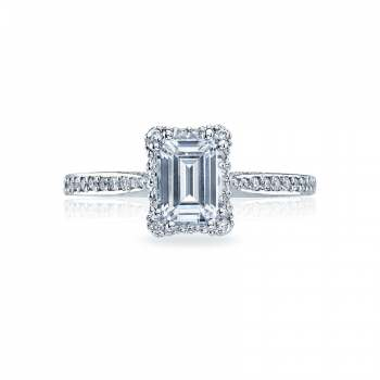 Tacori Dantela Collection Classic/Modern Emerald Cut 2620ECSMP