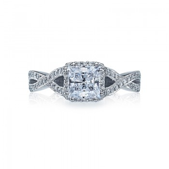 Tacori Dantela Collection Princess Cut Ring 2627PRMD