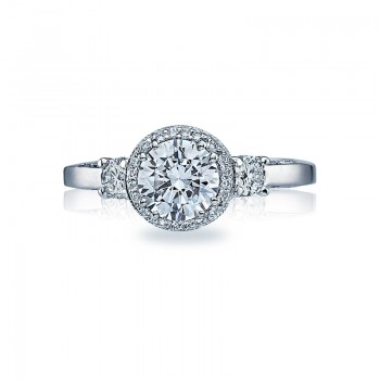 Tacori Dantela Collection Three Stone Ring 2640RD65