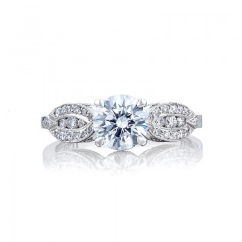 Tacori Ribbon Collection Round Cut Ring 2648RD65
