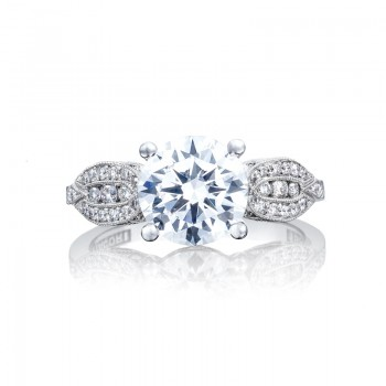 Tacori Ribbon Collection Round Cut Ring 2648RD8