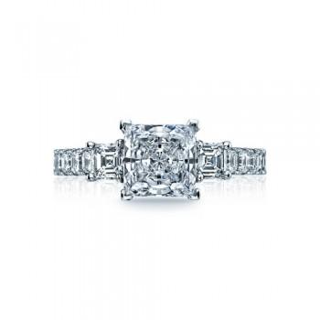 Tacori Clean Crescent Collection Princess Cut Ring 29-25PR7