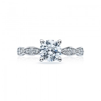 Tacori Sculpted Crescent Collection Solitaire Ring 46-25RD65