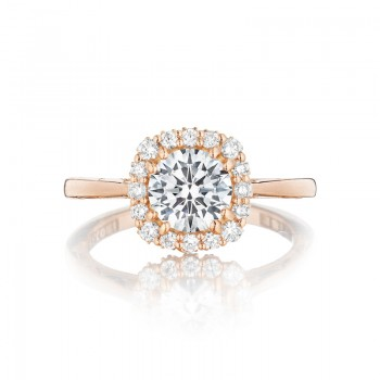 Tacori Pretty in Pink Collection Solitaire Ring 55-2CU65PK