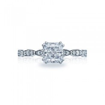 Tacori Sculpted Crescent Collection Princess Cut Ring 57-2PR55