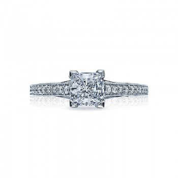 Tacori Sculpted Crescent Collection Princess Cut Ring 58-2PR55