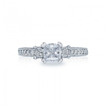 Tacori Classic Crescent Collection Three-Stone Ring HT2258