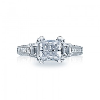 Tacori Reverse Crescent Collection Princess Cut Ring HT2509PR12X