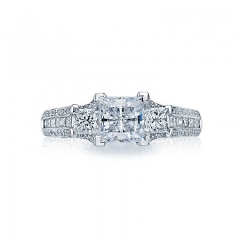 Tacori Classic Crescent Collection Princess Cut Ring HT2514PR612X