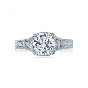 Tacori Reverse Crescent Collection Round Cut Ring HT2515RD812X