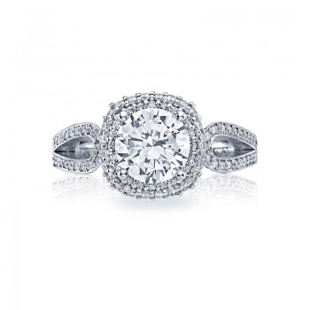 Tacori Blooming Beauties Collection Round Cut Ring HT2518CU75