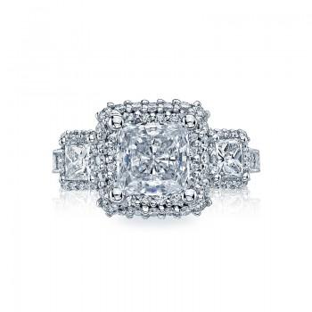 Tacori Blooming Beauties Collection Princess Cut Ring HT2526PR7