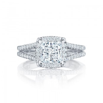 Tacori Petite Crescent Collection Princess Cut Ring HT2548PR65