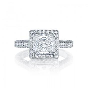 Tacori Classic Crescent Collection Princess Cut Ring HT2550PR7