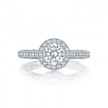 Tacori Classic Crescent Collection Round Cut Ring HT2550RD65