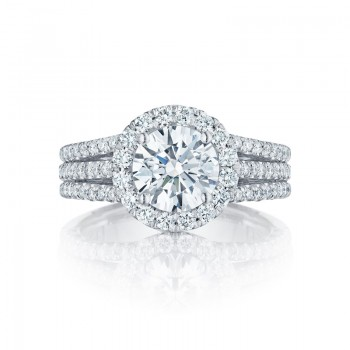Tacori Petite Crescent Collection Classic Round Cut Ring HT2551RD75