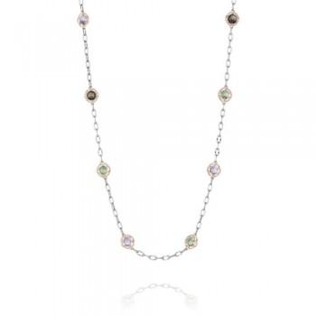 Tacori Color Medley Candy Drop Gem Chain Necklace