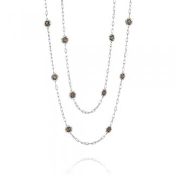 Tacori Truffle Double Petite Link Gem Necklace