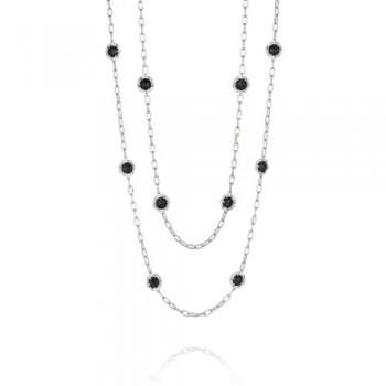 Tacori Black Lightning Double Petite Link Gem Necklace