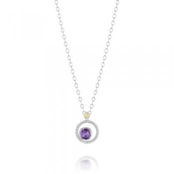 Tacori Lilac Blossoms Crescent Bloom Necklace