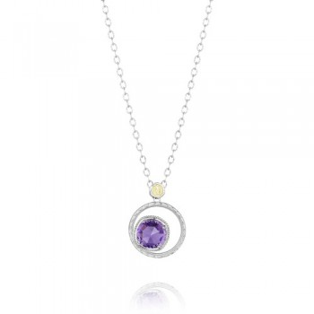 Tacori Lilac Blossoms Bold Crescent Bloom Necklace