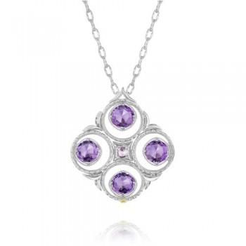 Tacori Lilac Blossoms Bold Silver Crescent Bloom Necklace
