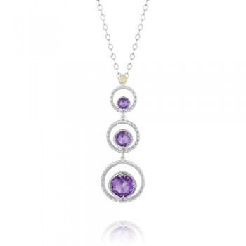 Tacori Lilac Blossoms Triple Crescent Bloom Necklace