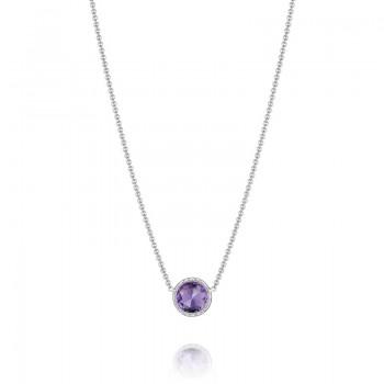 Tacori Lilac Blossoms Floating Bezel Necklace