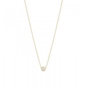 Tacori Sonoma Mist Petite Gold Pave Dew Drop Pendant