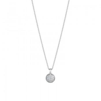 Tacori Sonoma Mist Bold Silver Pave Dew Drop Pendant